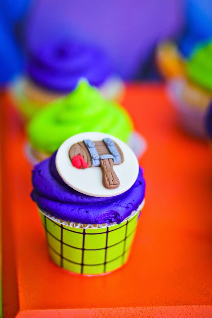 Cupcake from a Joker Inspired Mad Love Birthday Party via Kara's Party Ideas | KarasPartyIdeas.com - The Place for All Things Party! (65)