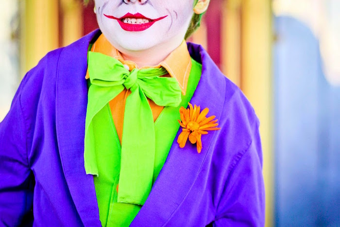 The Joker's suit details from a Joker Inspired Mad Love Birthday Party via Kara's Party Ideas | KarasPartyIdeas.com - The Place for All Things Party! (9)