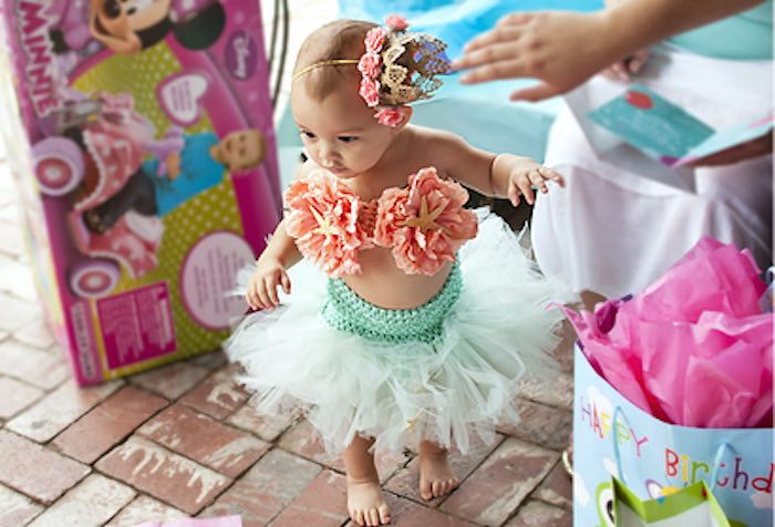 The Littlest Mermaid from a Littlest Mermaid 1st Birthday Party via Kara's Party Ideas | KarasPartyIdeas.com - The Place for All Things Party! (20)