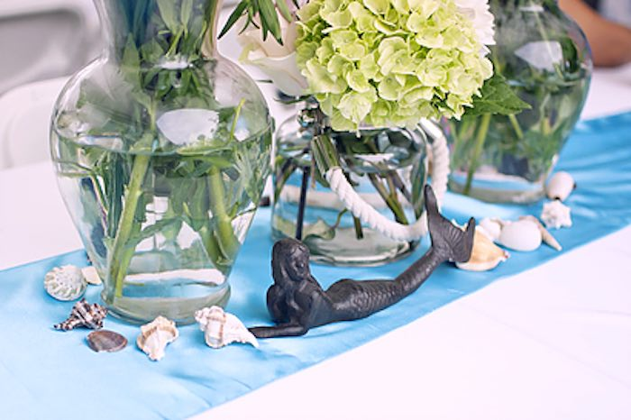 Under the sea decor from a Littlest Mermaid 1st Birthday Party via Kara's Party Ideas | KarasPartyIdeas.com - The Place for All Things Party! (16)