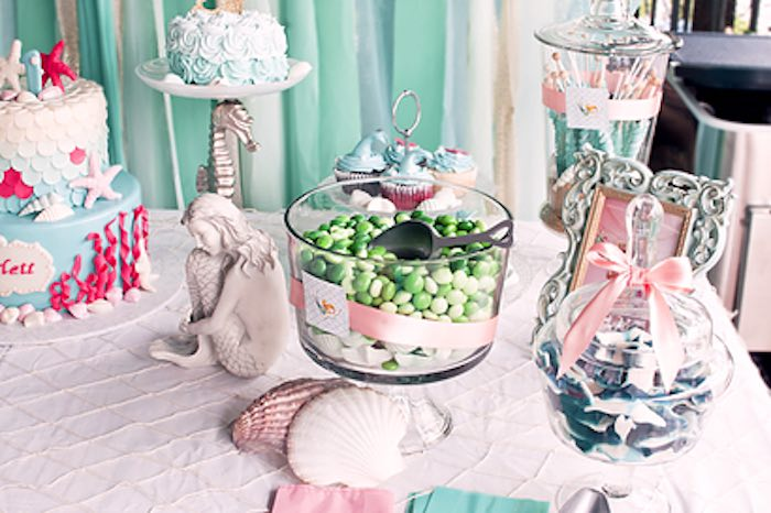 Sweet + treats from a Littlest Mermaid 1st Birthday Party via Kara's Party Ideas | KarasPartyIdeas.com - The Place for All Things Party! (13)