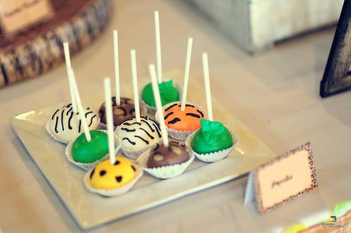 Safari cake pops from a Madagascar Jungle Safari Birthday Party via Kara's Party Ideas KarasPartyIdeas.com (25)
