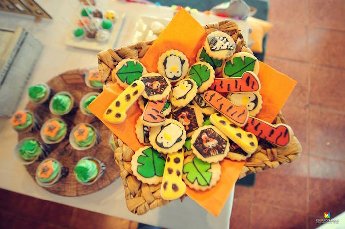 Safari cookies from a Madagascar Jungle Safari Birthday Party via Kara's Party Ideas KarasPartyIdeas.com (23)