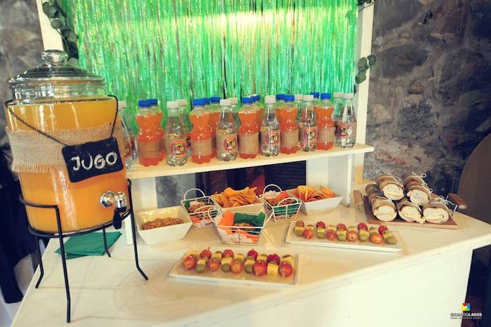 Snack bar from a Madagascar Jungle Safari Birthday Party via Kara's Party Ideas KarasPartyIdeas.com (16)