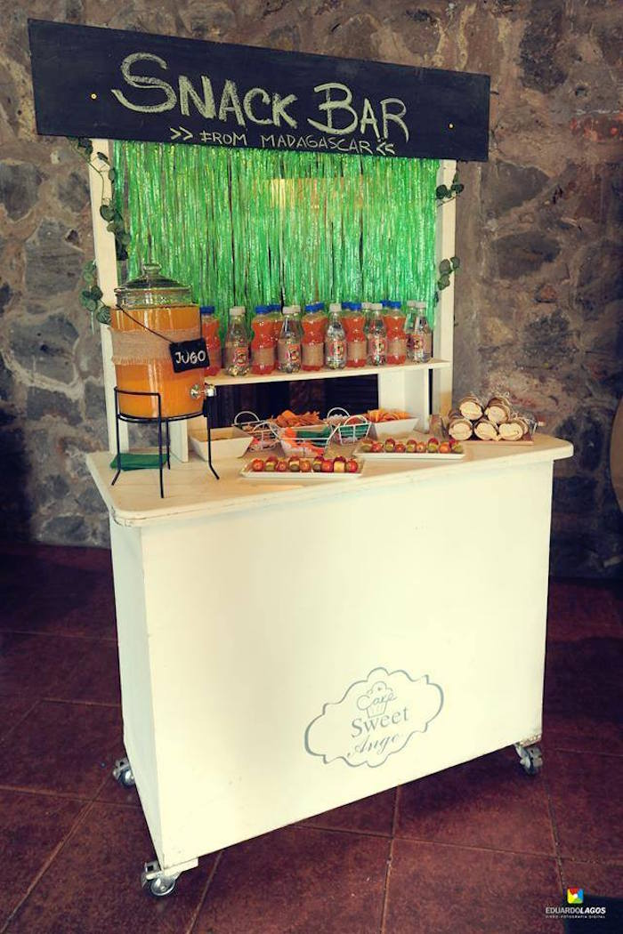 Snack bar from a Madagascar Jungle Safari Birthday Party via Kara's Party Ideas KarasPartyIdeas.com (3)