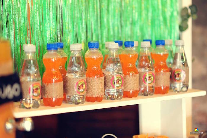 Drink bottles from a Madagascar Jungle Safari Birthday Party via Kara's Party Ideas KarasPartyIdeas.com (33)