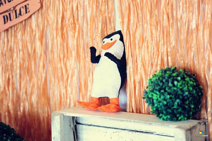 Penguin decor from a Madagascar Jungle Safari Birthday Party via Kara's Party Ideas KarasPartyIdeas.com (31)