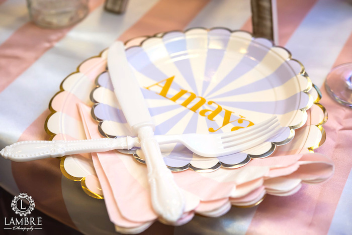 Place Setting from a Mary Poppins Carousel Themed Birthday Party via Kara's Party Ideas - KarasPartyIdeas.com (40)