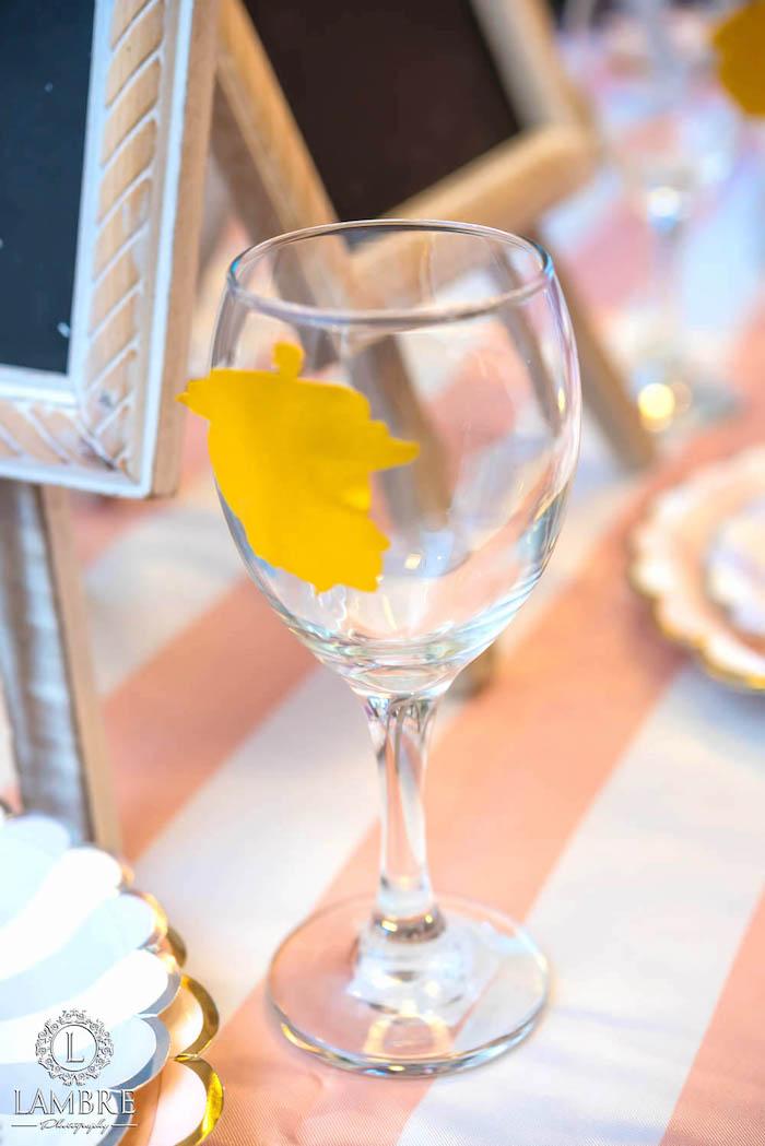 Drinking Glass from a Mary Poppins Carousel Themed Birthday Party via Kara's Party Ideas - KarasPartyIdeas.com (39)