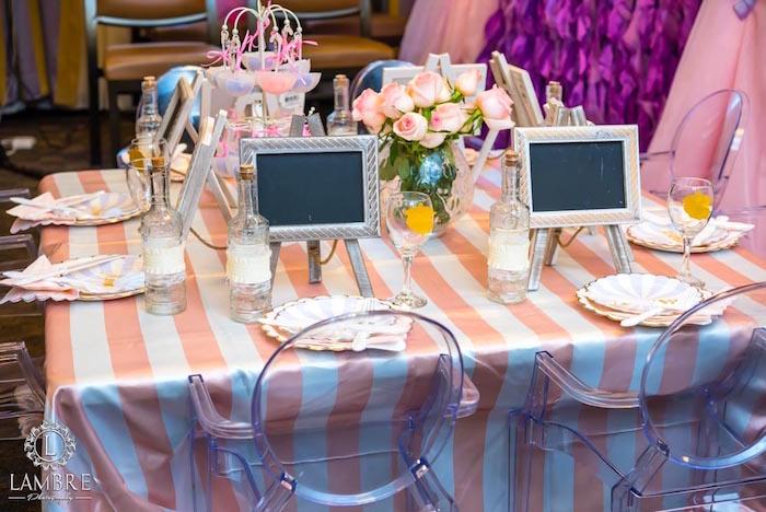 Guest Table from a Mary Poppins Carousel Themed Birthday Party via Kara's Party Ideas - KarasPartyIdeas.com (34)
