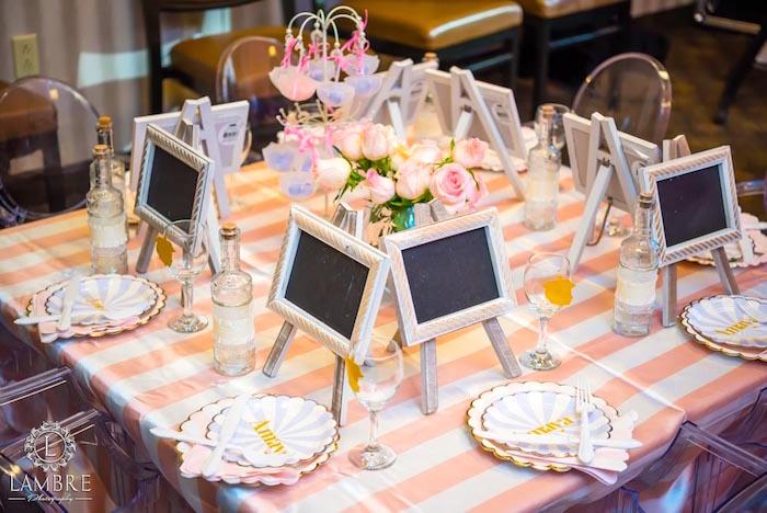 Guest Table from a Mary Poppins Carousel Themed Birthday Party via Kara's Party Ideas - KarasPartyIdeas.com (33)