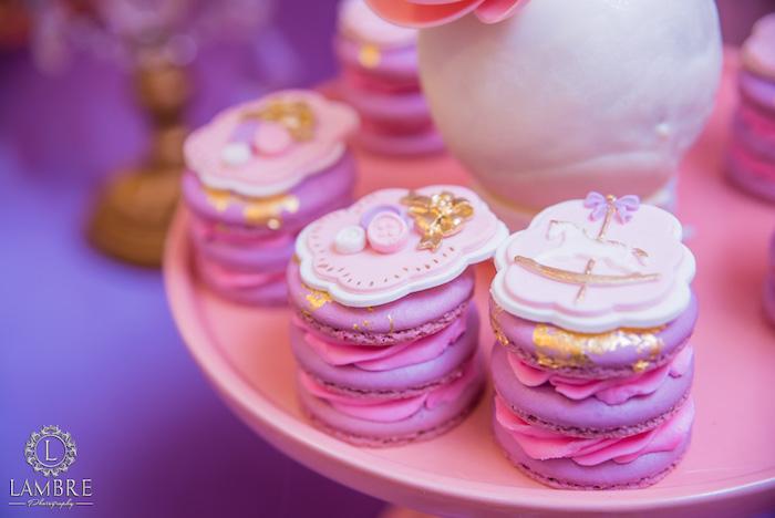 Macaron Stacks from a Mary Poppins Carousel Themed Birthday Party via Kara's Party Ideas - KarasPartyIdeas.com (30)