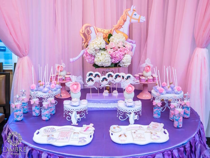 Sweet Table Details from a Mary Poppins Carousel Themed Birthday Party via Kara's Party Ideas - KarasPartyIdeas.com (29)