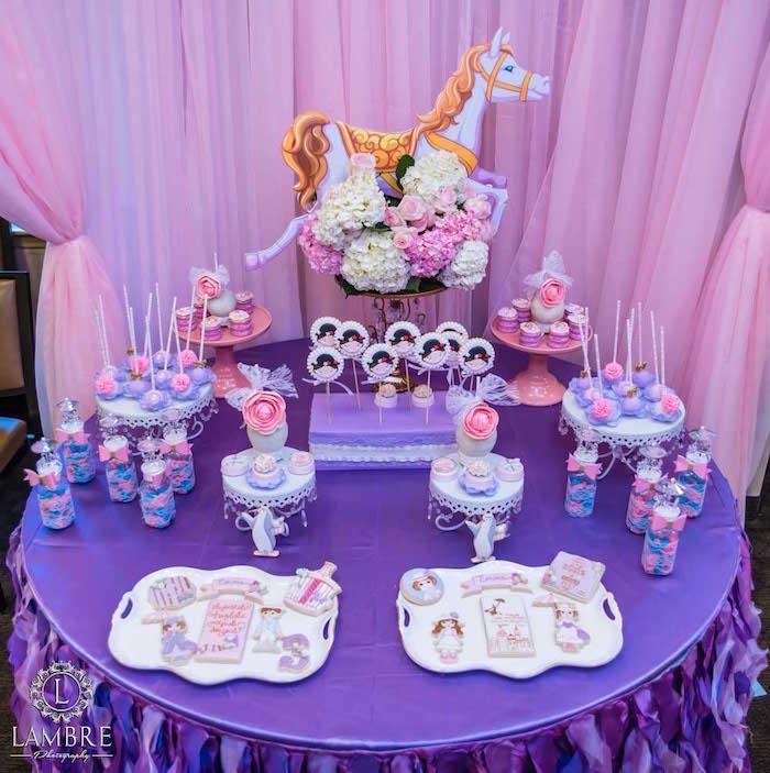 Sweet Table from a Mary Poppins Carousel Themed Birthday Party via Kara's Party Ideas - KarasPartyIdeas.com (28)