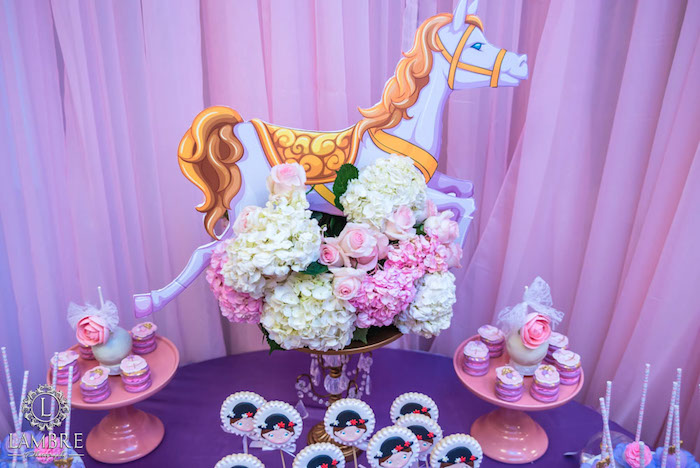 Sweet Table Details from a Mary Poppins Carousel Themed Birthday Party via Kara's Party Ideas - KarasPartyIdeas.com (26)