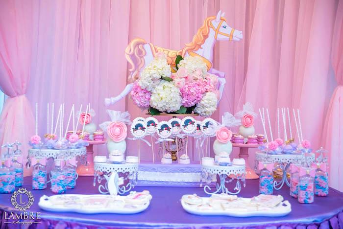 Sweet Table from a Mary Poppins Carousel Themed Birthday Party via Kara's Party Ideas - KarasPartyIdeas.com (23)