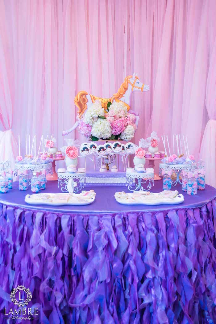 Sweet Table from a Mary Poppins Carousel Themed Birthday Party via Kara's Party Ideas - KarasPartyIdeas.com (22)