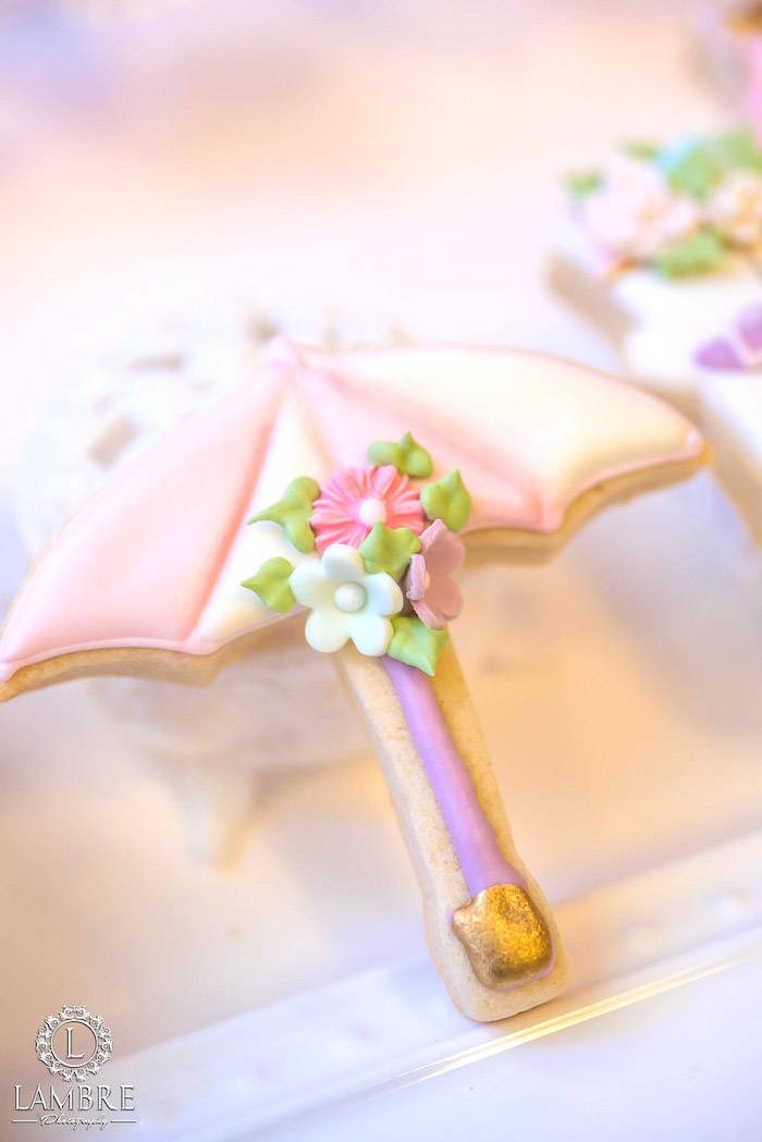 Umbrella Cookie from Mary Poppins Carousel Themed Birthday Party via Kara's Party Ideas - KarasPartyIdeas.com (20)