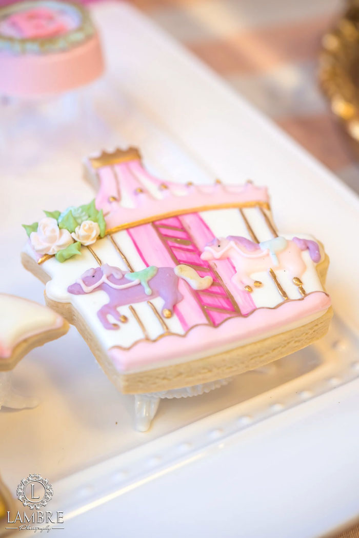 Carousel Cookie from a Mary Poppins Carousel Themed Birthday Party via Kara's Party Ideas - KarasPartyIdeas.com (19)