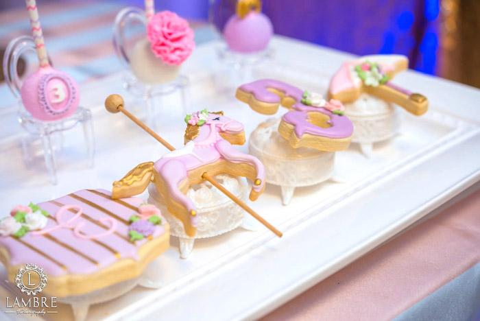 Custom Sugar Cookies from a Mary Poppins Carousel Themed Birthday Party via Kara's Party Ideas - KarasPartyIdeas.com (14)