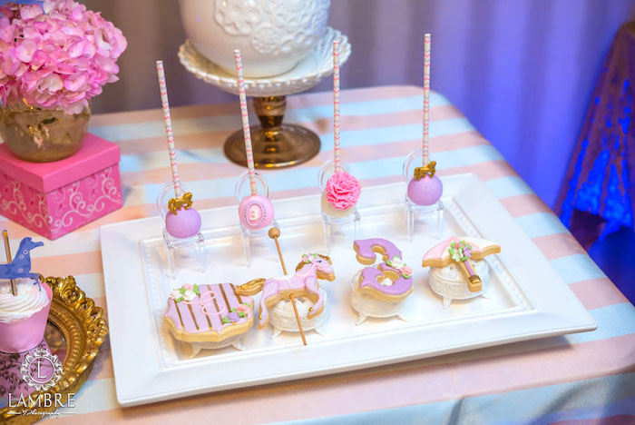 Cookies + Cake Pops from a Mary Poppins Carousel Themed Birthday Party via Kara's Party Ideas - KarasPartyIdeas.com (12)
