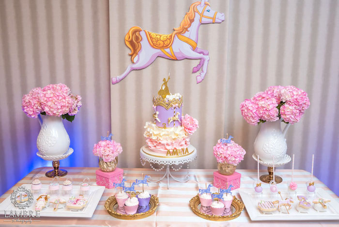 Kara S Party Ideas Mary Poppins Carousel Themed Birthday Party