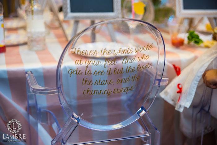 Ghost Chair from a Mary Poppins Carousel Themed Birthday Party via Kara's Party Ideas - KarasPartyIdeas.com (6)