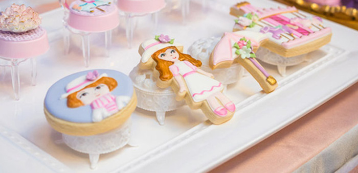 Cookies from a Mary Poppins Carousel Themed Birthday Party via Kara's Party Ideas - KarasPartyIdeas.com (2)