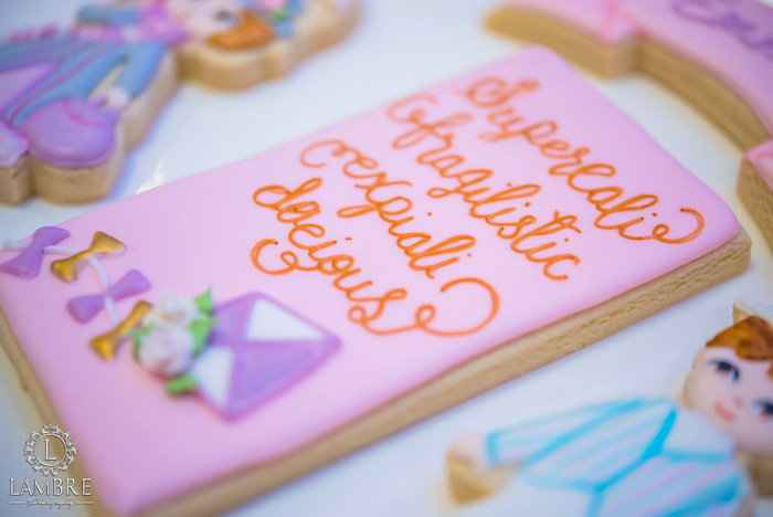 Cookie from a Mary Poppins Carousel Themed Birthday Party via Kara's Party Ideas - KarasPartyIdeas.com (48)
