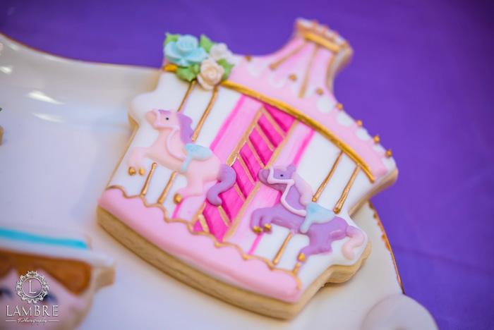 Carousel Cookie from a Mary Poppins Carousel Themed Birthday Party via Kara's Party Ideas - KarasPartyIdeas.com (46)