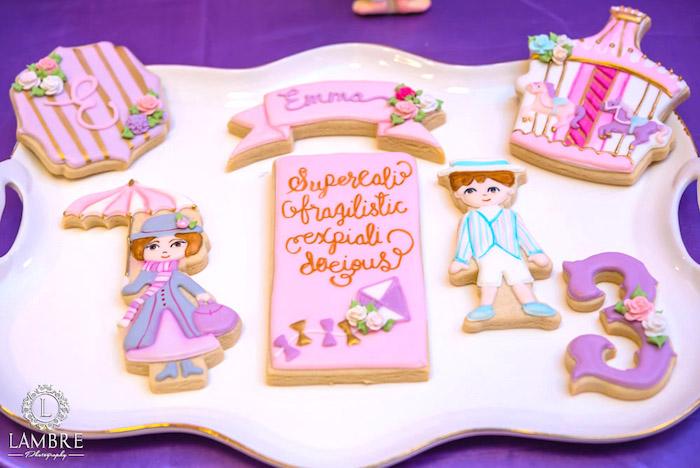 Cookies from a Mary Poppins Carousel Themed Birthday Party via Kara's Party Ideas - KarasPartyIdeas.com (45)