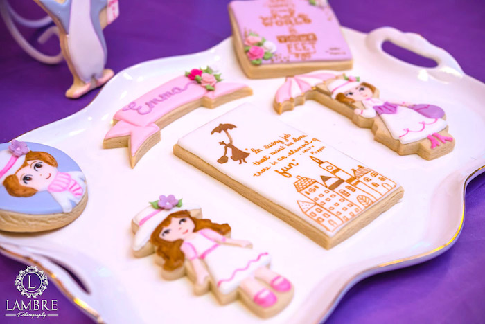 Cookies from a Mary Poppins Carousel Themed Birthday Party via Kara's Party Ideas - KarasPartyIdeas.com (44)