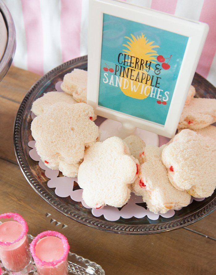 Cloud sandwiches from a Mary Poppins Themed Birthday Party via Kara's Party Ideas | KarasPartyIdeas.com - The Place for All Things Party! (27)