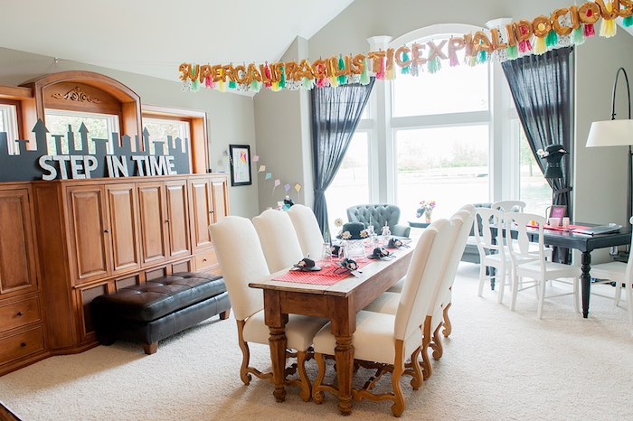 Partyscape from a Mary Poppins Themed Birthday Party via Kara's Party Ideas | KarasPartyIdeas.com - The Place for All Things Party! (24)