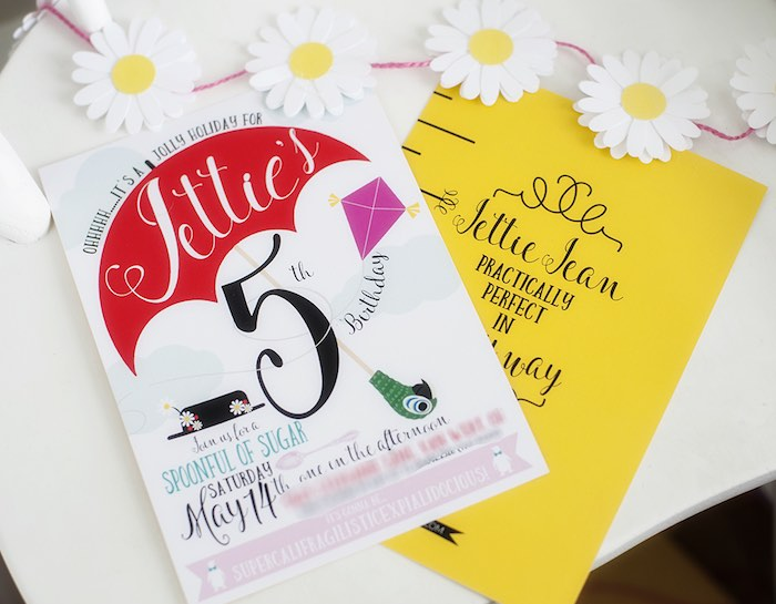 Marty Poppins Party Invitation from a Mary Poppins Themed Birthday Party via Kara's Party Ideas   KarasPartyIdeas.com - The Place for All Things Party! (38)
