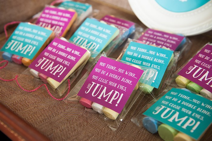 Chalk favors from a Mary Poppins Themed Birthday Party via Kara's Party Ideas | KarasPartyIdeas.com - The Place for All Things Party! (17)