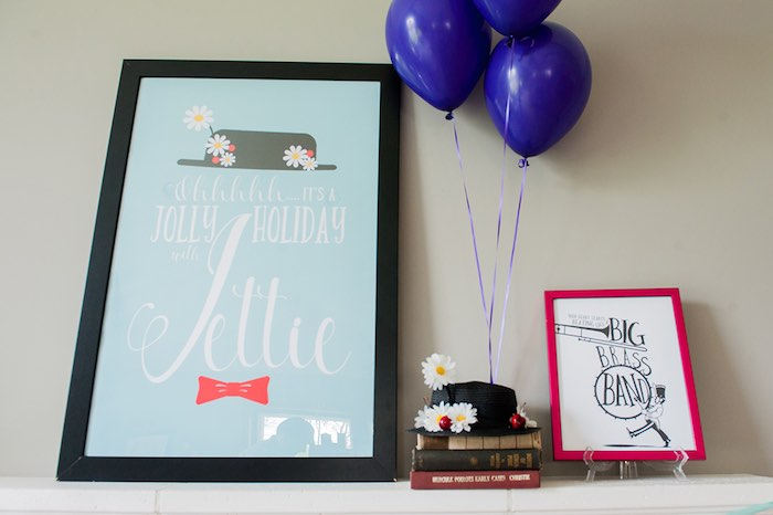 Party signage + decor from a Mary Poppins Themed Birthday Party via Kara's Party Ideas | KarasPartyIdeas.com - The Place for All Things Party! (16)