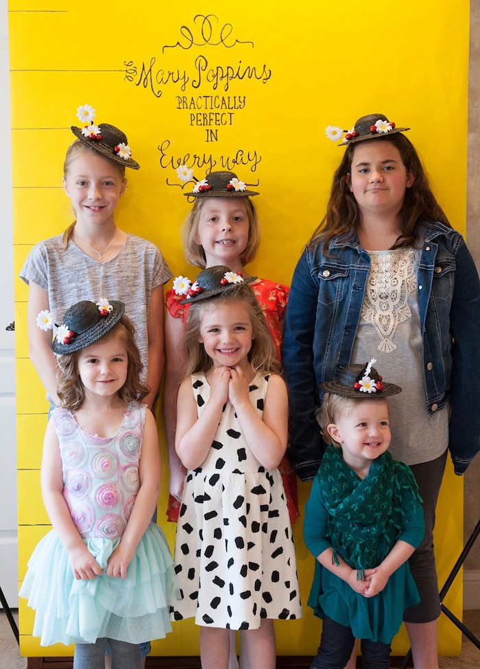 Photo booth from a Mary Poppins Themed Birthday Party via Kara's Party Ideas   KarasPartyIdeas.com - The Place for All Things Party! (8)