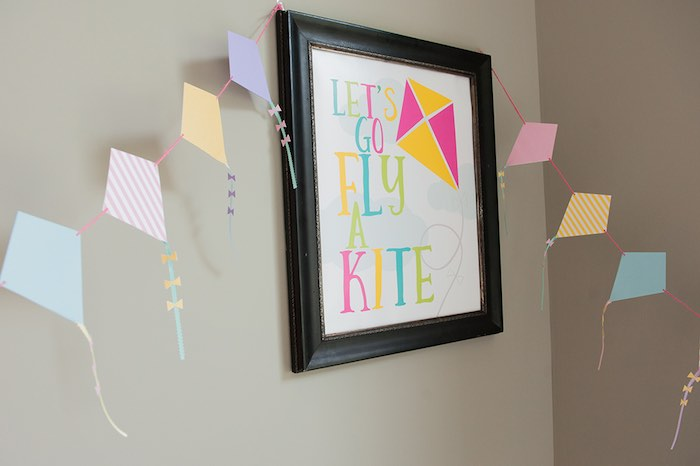 Party sign from a Mary Poppins Themed Birthday Party via Kara's Party Ideas | KarasPartyIdeas.com - The Place for All Things Party! (5)