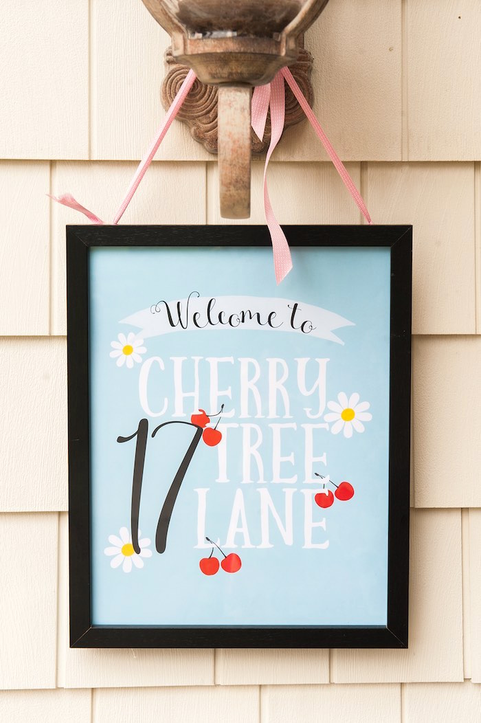 Mary Poppins party signage from a Mary Poppins Themed Birthday Party via Kara's Party Ideas | KarasPartyIdeas.com - The Place for All Things Party! (35)
