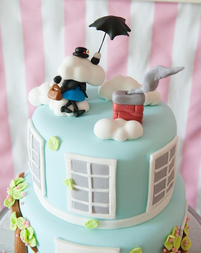 Mary Poppins Kite Cake