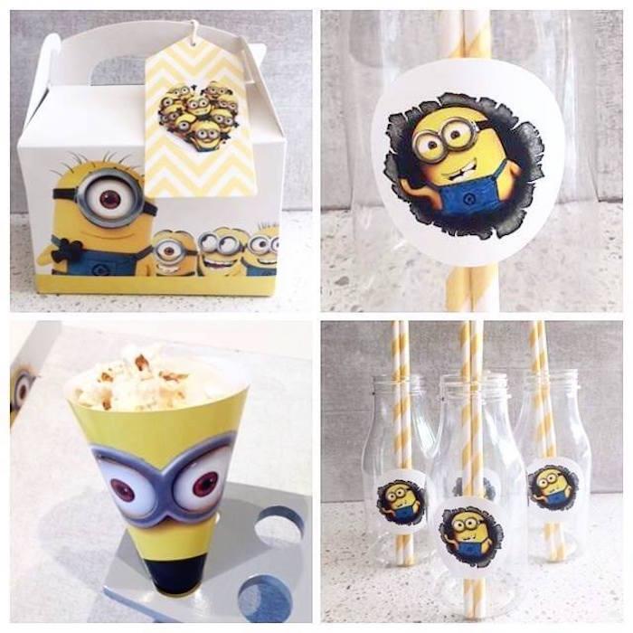 Minion party favors from a Minions Birthday Party via Kara's Party Ideas   KarasPartyIdeas.com (10)