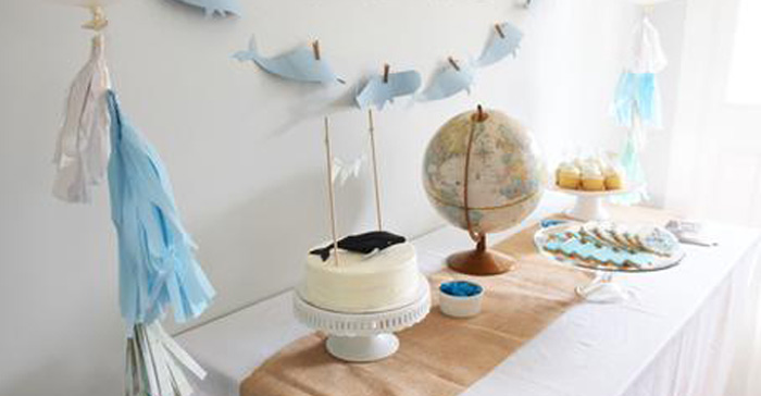 Moby Dick Inspired Whale Birthday Party via Kara's Party Ideas | KarasPartyIdeas.com (1)