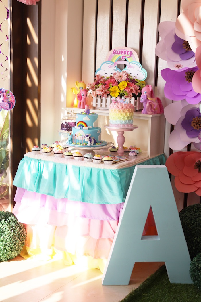 Dessert table from a My Little Pony Birthday Party via Kara's Party Ideas | KarasPartyIdeas.com (23)