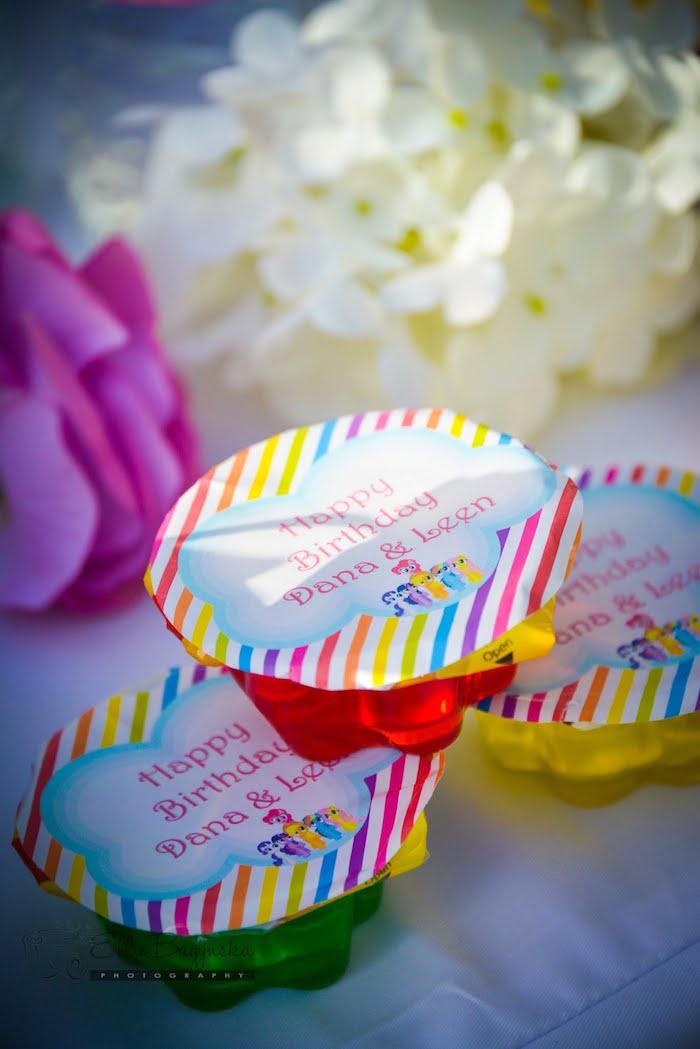 My Little Pony favor cups from a My Little Pony Birthday Party via Kara's Party Ideas   KarasPartyIdeas.com (29)