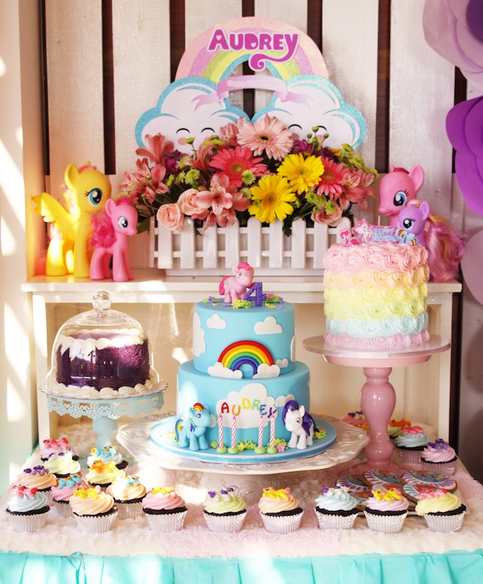 Dessert table from a My Little Pony Birthday Party via Kara's Party Ideas | KarasPartyIdeas.com (22)