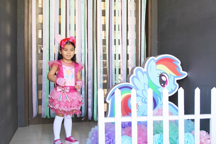 Birthday girl from a My Little Pony Birthday Party via Kara's Party Ideas | KarasPartyIdeas.com (21)