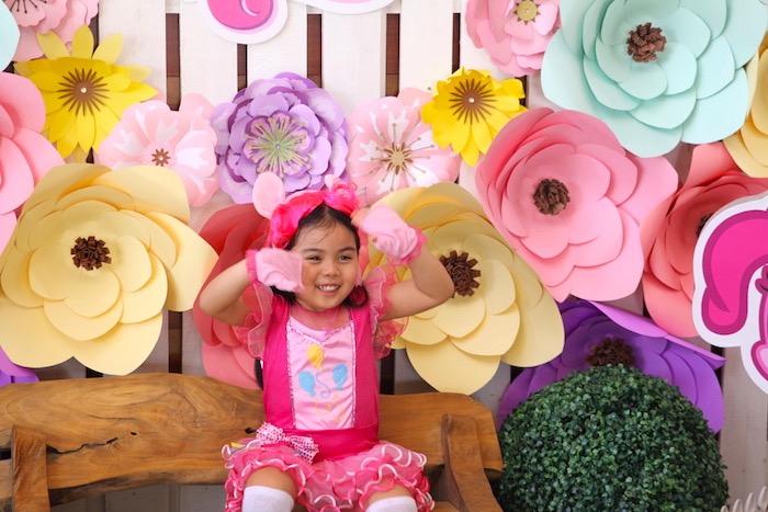 Birthday girl from a My Little Pony Birthday Party via Kara's Party Ideas | KarasPartyIdeas.com (20)