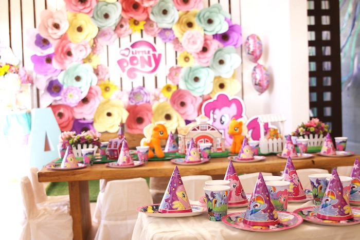Kara\'s Party Ideas My Little Pony Pastel Birthday Party | Kara\'s ...