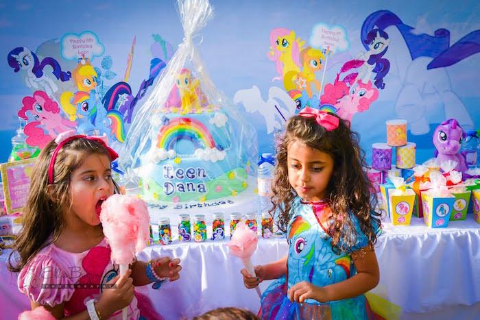 Birthday girls from a My Little Pony Birthday Party via Kara's Party Ideas   KarasPartyIdeas.com (24)